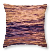 Colorful Ocean Water At Sunset Throw Pillow
