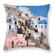 Colorful  Oia Throw Pillow