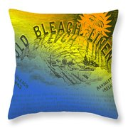 Colorful Old Bleach Linen Ad Throw Pillow