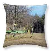 Colorful Old Farm Rake Throw Pillow