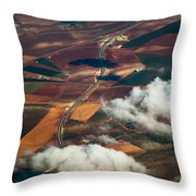 Colorful Patchwork Of Andalusian Fields 1. Spain Throw Pillow
