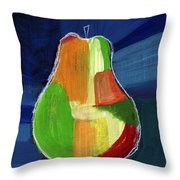 Colorful Pear- Abstract Painting Throw Pillow