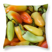 Colorful Peppers Throw Pillow by James BO  Insogna