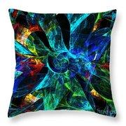Colorful Petals Throw Pillow