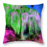 Colorful Phosphorescent Cave Throw Pillow