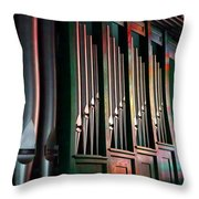 Colorful Pipes Throw Pillow