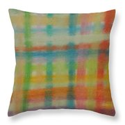 Colorful Plaid Throw Pillow
