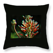Colorful Plant Throw Pillow
