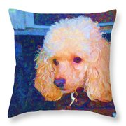 Colorful Poodle Throw Pillow