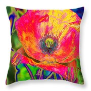 Colorful Poppy Throw Pillow