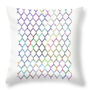 Colorful Quatrefoil Throw Pillow