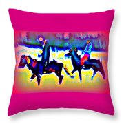 Remembering The Most Colorful Ride Throw Pillow