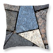 Colorful Rock Pavers Throw Pillow