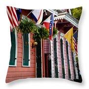 Colorful Row Houses Throw Pillow