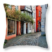 Colorful Schnoor Throw Pillow