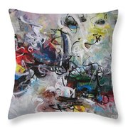 Colorful Seascape Abstract Landscape Throw Pillow