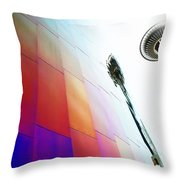 Colorful Seattle Throw Pillow
