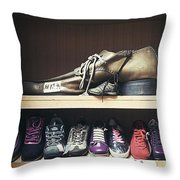 Colorful Shoes Throw Pillow