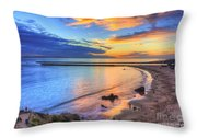 Colorful Sky At Inspiration Point Throw Pillow