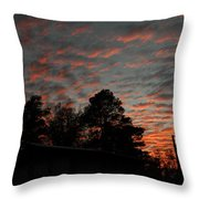 Colorful Sky Number 5 Throw Pillow