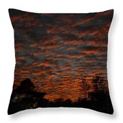 Colorful Sky Number 7 Throw Pillow