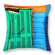 Colorful Slum Throw Pillow