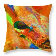 Colorful Snake Throw Pillow