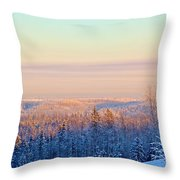 Colorful Snow Valley Throw Pillow