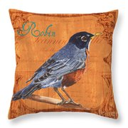 Colorful Songbirds 2 Throw Pillow by Debbie DeWitt