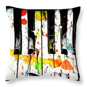 Colorful Sound Throw Pillow