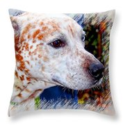 Colorful Spots Throw Pillow
