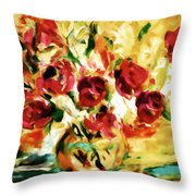 Colorful Spring Bouquet - Abstract  Throw Pillow