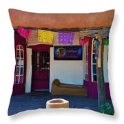 Colorful Store In Albuquerque Throw Pillow