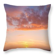 Colorful Sunset Cloudscape Over Beach And Ocean Throw Pillow