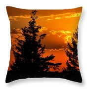 Colorful Sunset II Throw Pillow
