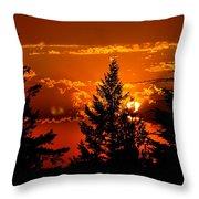 Colorful Sunset IIl Throw Pillow