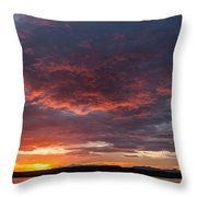 Colorful Sunset, Snaefellsnes Throw Pillow