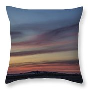 Colorful Sunset Spring 2013 Throw Pillow