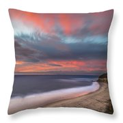 Colorful Swamis Sunset Throw Pillow