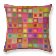 Colorful Textured Squares Throw Pillow