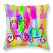 Colorful Texturized Alphabet Mm Throw Pillow
