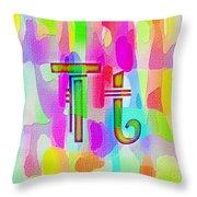 Colorful Texturized Alphabet Tt Throw Pillow
