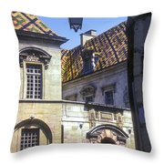Colorful Tiled Rooftops Throw Pillow