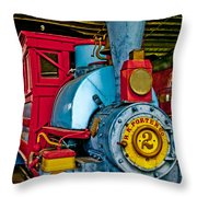 Colorful Train Throw Pillow