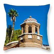 Colorful Tropical Tower Throw Pillow