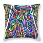 Colorful Twirl Wave Shield Design Background Designs  And Color Tones N Color Shades Available For D Throw Pillow