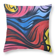 Colorful Urban Street Art From Singapore Throw Pillow