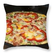 Colorful Vegetable Fritatta Throw Pillow