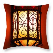 Colorful Vibrant Red Green Gothic Sconce Light Throw Pillow