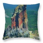 105830-colorful Volcanic Plug Throw Pillow